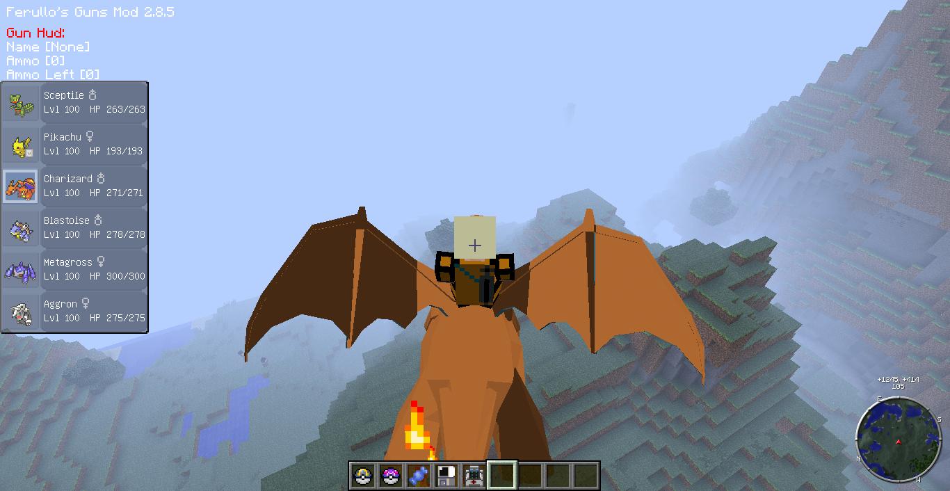 Скачать мод Pixelmon для Minecraft 1.6.4